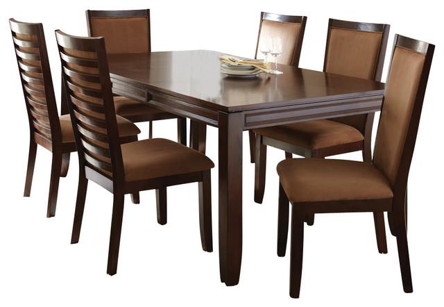 steve silver cornell 7 piece rectangular dining room set