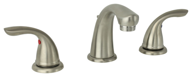 Delta Alux Spotshield Brushed Nickel 2 Handle Widespread: Price Pfister Brushed Nickel Two-handle Widespread