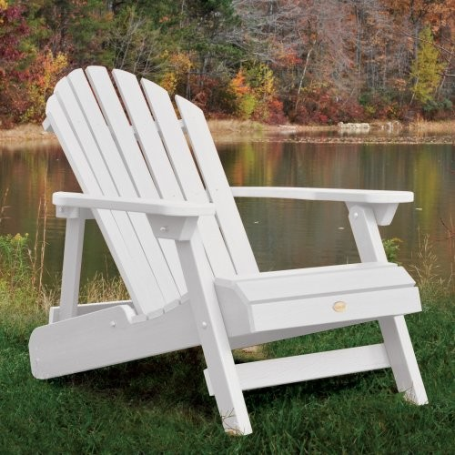 Highwood USA Folding and Reclining King Size Adirondack Chair Contemporary