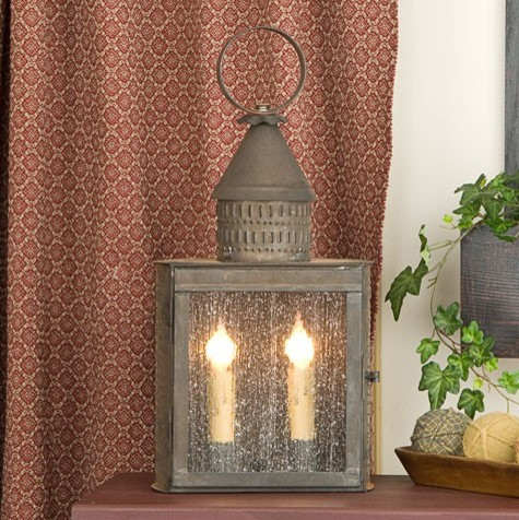 Handcrafted Indoor Lantern with Punched Trim Details traditional-floor-lamps