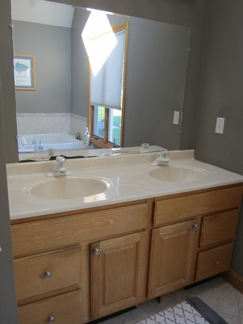 Updating Bathroom Vanity Lights : Updating bathroom vanity, mirror and lighting
