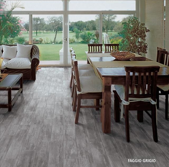 Happy Floors Woodland Faggio Grigio Contemporary Wall
