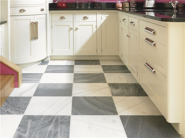 Spanish Macael Grey and White marble eclectic-floor-tiles