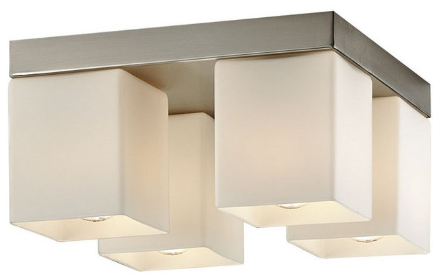 Forecast Lighting F445336 Satin Nickel Vancouver Island Four Light