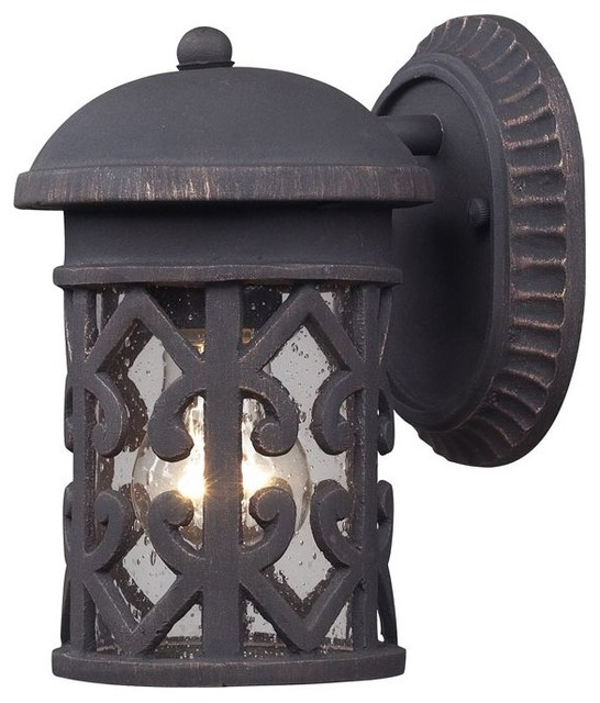 Elk Lighting 42065/1 Tuscany Coast 1-Light Outdoor Sconce in Weathered Charcoal modern-outdoor-wall-lights-and-sconces