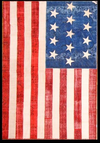 VINTAGE AMERICAN FLAG KILIM Home Decor new york by