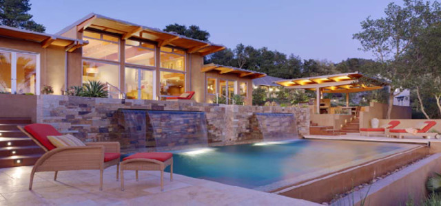 South Fitch Mountain Residence mediterranean-pool