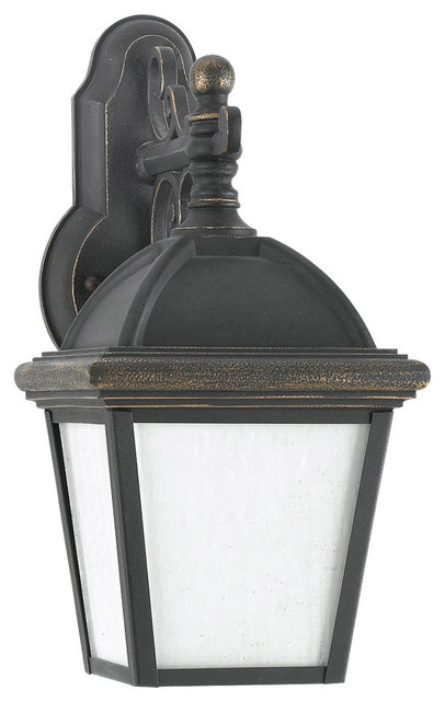 Sea Gull Lighting 8843D-85 Charleston Gold Patina Outdoor Wall Sconce transitional-outdoor-wall-lights-and-sconces