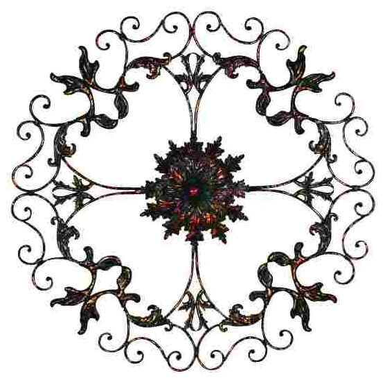 46 beluno wrought iron wall decor traditional artwork. Black Bedroom Furniture Sets. Home Design Ideas