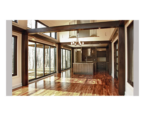 Modernism and magnificence: Aluminium windows - Luxurious blend of aluminum windows and hybrid patio door.