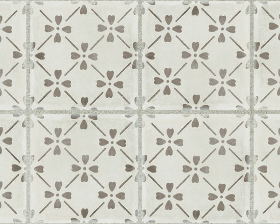 GREY BLOOM DECO 12X24 - The Palazzo collection provides a multi-faceted dynamic of old world charm and modern beauty with three beautiful colors and four unique decorative designs. Trim options and mosaics also available.