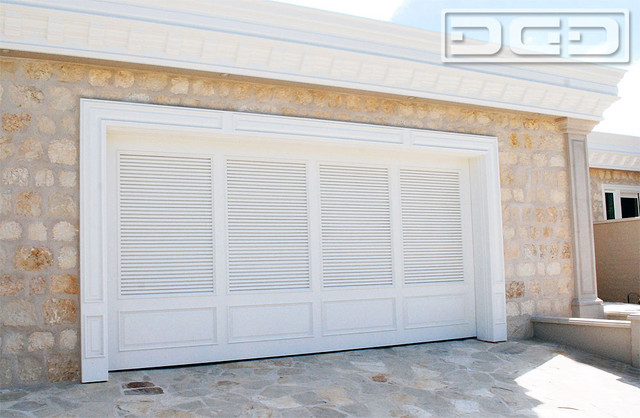 Newport beach ca custom garage door in composite wood for Composite wood garage doors