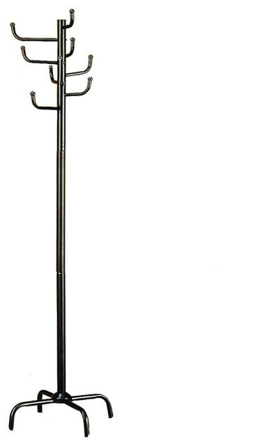 Practical Black Metal Coat Hat Rack Hall Tree Eight Hooks in Every Direction contemporary-coatracks-and-umbrella-stands