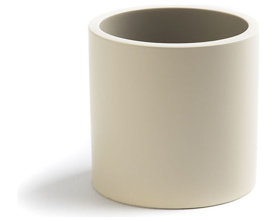 Global Views - Desk Oval Cup - This ivory lacquer elegant oval cup, designed by Barbara Barry, neatly holds pens and pencils to keep any desktop clean and organized.