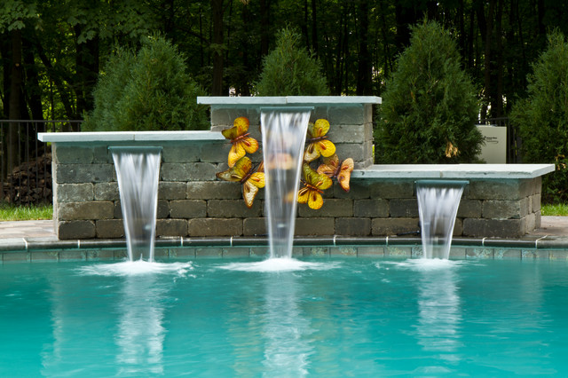 Water sconces for swimming pools interior decorating for Modern contemporary swimming pools