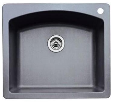 Blanco 440-209 Diamond Single Bowl Silgranit II (Di) in Metallic Gray traditional-kitchen-sinks