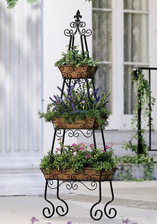 Pyramid Patio Planter - Traditional - Outdoor Pots And ...