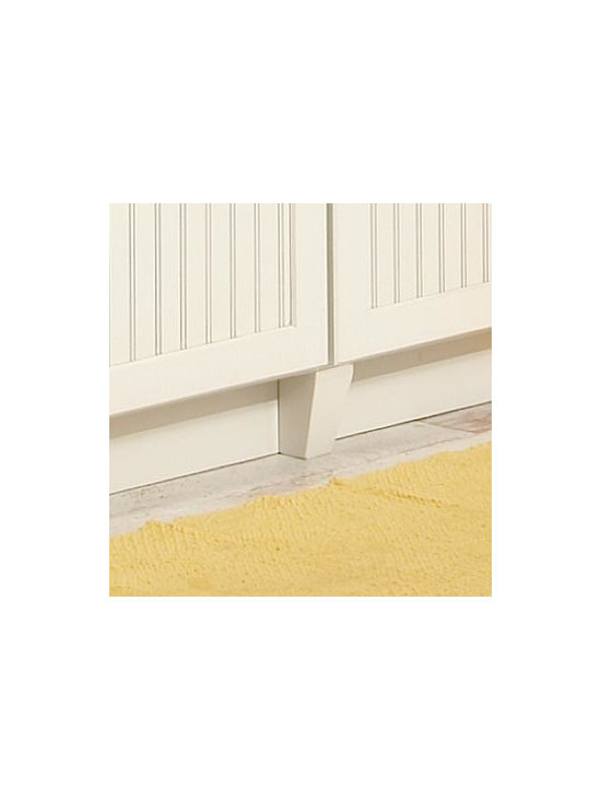 Tapered Feet - Decorative feet can be used in conjunction with base cabinets to create a more furniture-like appearance.