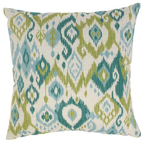 Gunnison 23-Inch Floor Pillow in Grasshopper contemporary-decorative-pillows