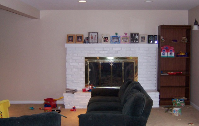 Fireplace Re-Do contemporary