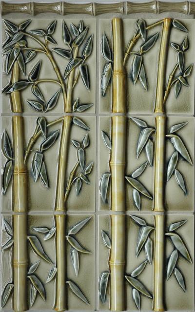 Bamboo Relief Tile Asian Tile Portland By Pratt