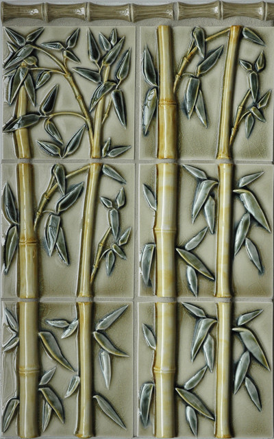 Bamboo Relief Tile Asian Tile Portland By Pratt