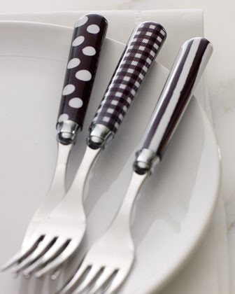 Black & White 20-Piece Flatware Service traditional-flatware
