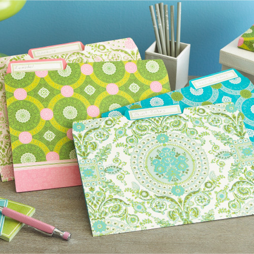 Isabelle File Folder Set eclectic desk accessories