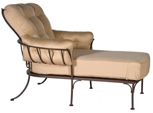 O W Lee Monterra Wrought Iron Chaise Lounge Traditional