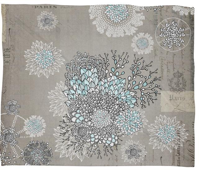 Iveta Abolina French Blue Fleece Throw Blanket contemporary-throws