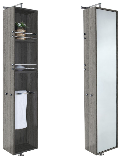 wyndham collection 14 april rotating wall cabinet with