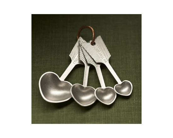 Beehive Heart Measuring Spoons - Beehives famous, signature design! The Heart Measuring Spoons are often duplicated, but never with the attention to detail, and charm of the original.
