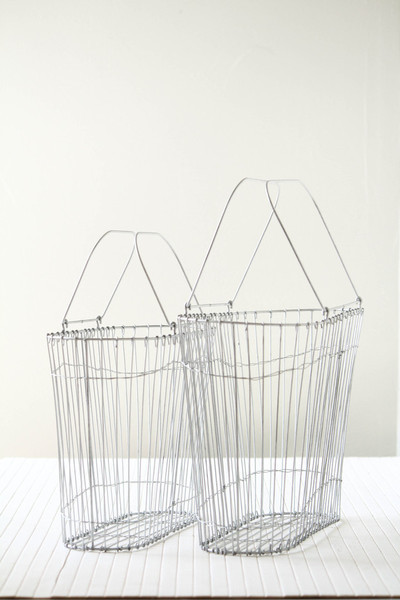 Wire Tote Baskets contemporary-baskets