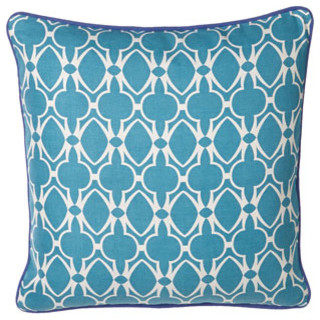 "Blue-Print ""Baja"" Pillow, 22""Sq. traditional-bed-pillows-and-pillowcases"