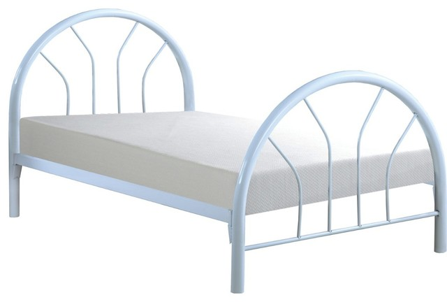 White metal twin bed frame only modern beds Metal bed frame twin