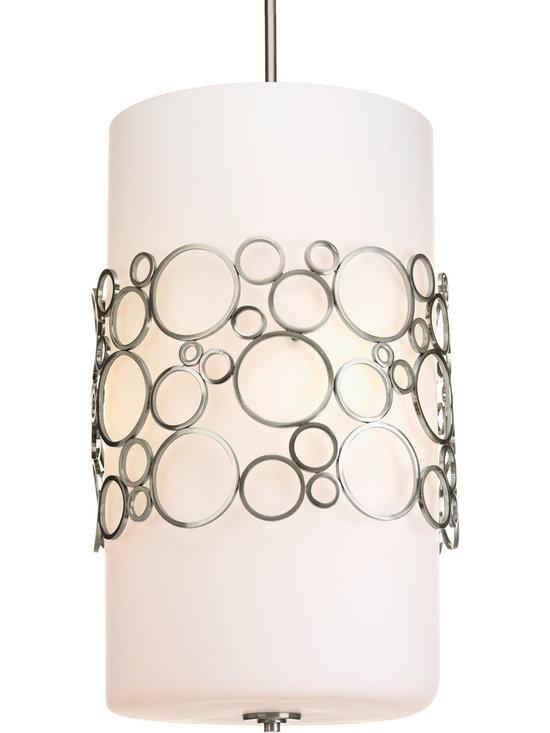 Progress Lighting, Bingo, Three Light, Entryway - Three-light Foyer Pendant