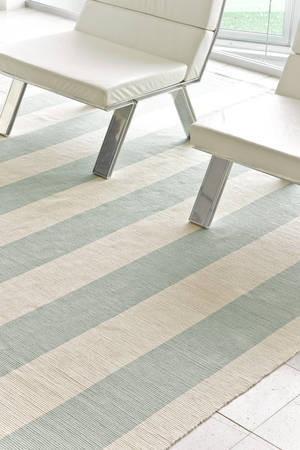 Yacht Stripe Ocean Woven Cotton by Dash & Albert Rug Company contemporary rugs
