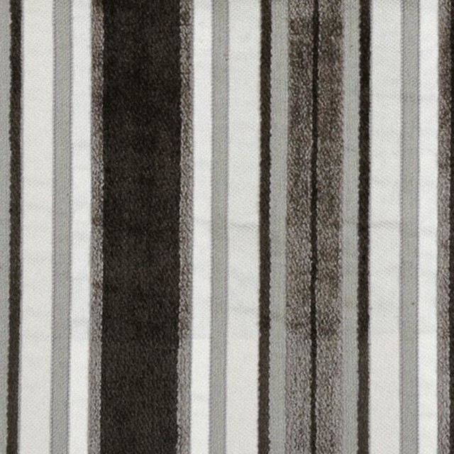 Stripe - Charcoal Upholstery Fabric transitional-upholstery-fabric