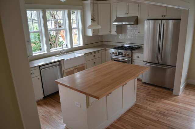 Counter In The Kitchen : Reclaimed Wood Tables & Counters - Kitchen Countertops - portland - by ...