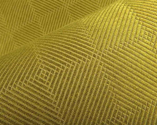 Plain Jane Upholstery Fabric in Wasabi - Plain Jane Upholstery Fabric in Wasabi green is a geometric print weave perfect for reupholstering seats and sofas or for accent pillows. Available online at a great discount, this designer fabric has a great color that works well with many interior designs. 64% Rayon and 36% Polyester with a width of 56″. NPFA 260, passes 120,000 double rubs.