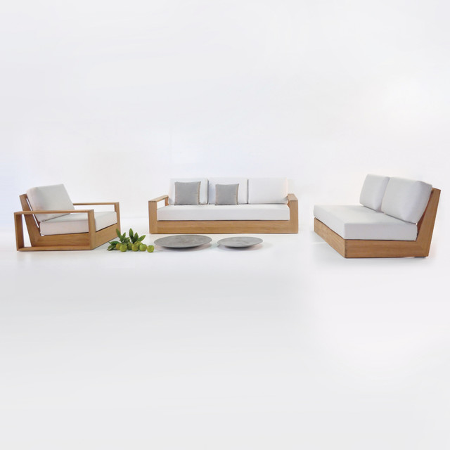 Cabana teak outdoor furniture collection midcentury for Outdoor furniture auckland