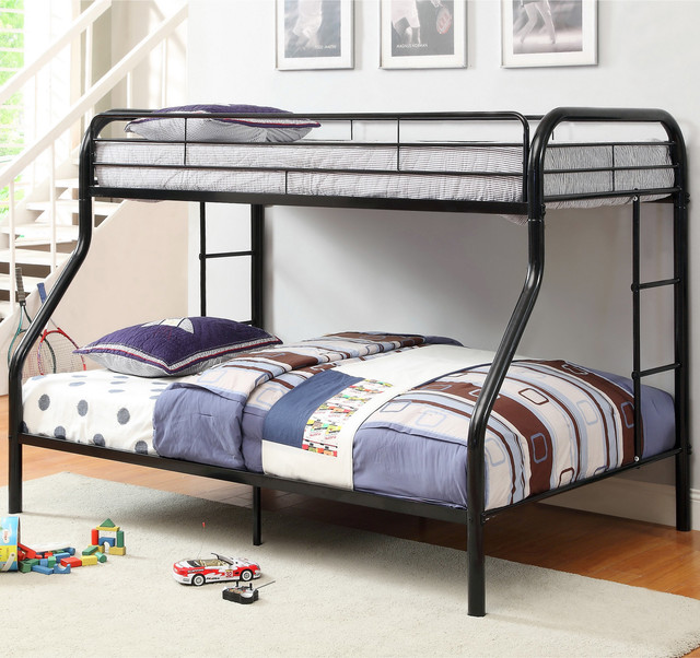 Furniture of America Linden Twin Over Full Metal Bunk Bed