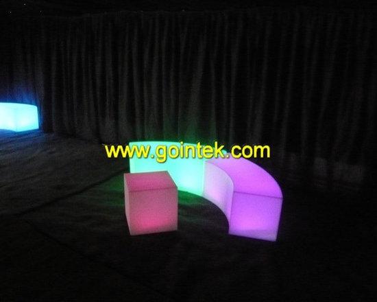 illuminate colorful Bar furniture Led Stool Seating -