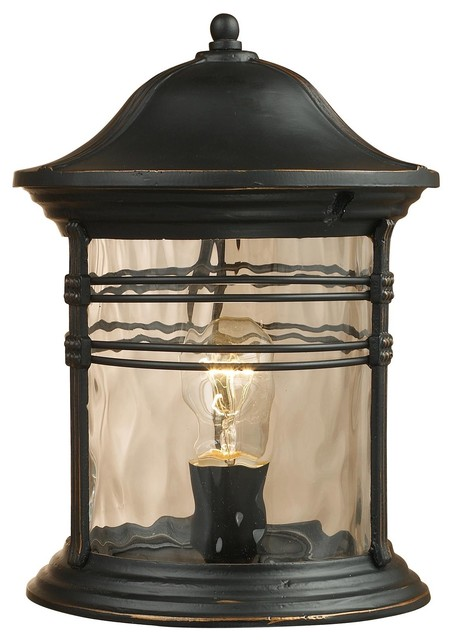 One Light Black Pier Mount - modern - outdoor lighting - by Elite