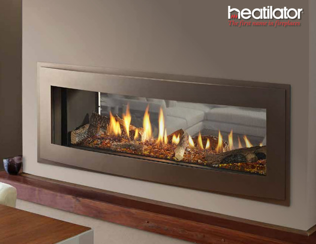 Crave See Through Series Gas Fireplace Contemporary Indoor Fireplaces New York By