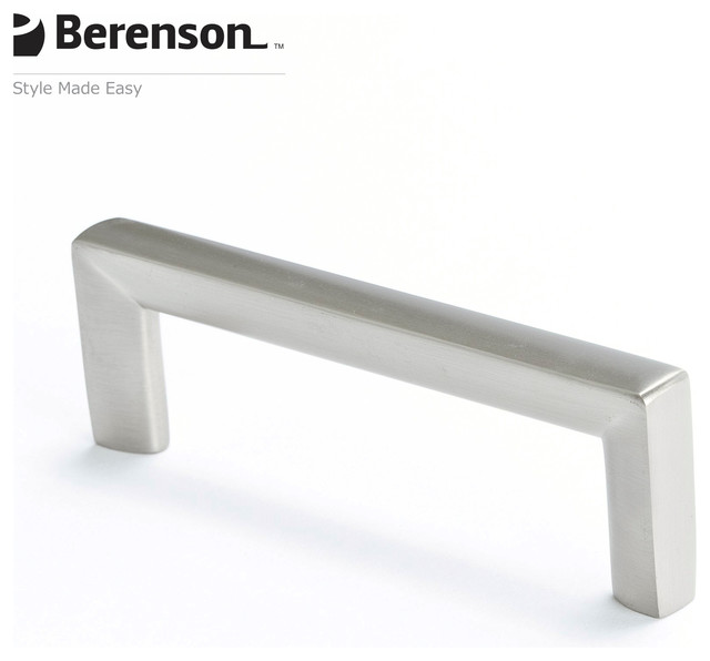 4108-1BPN-P Brushed Nickel Cabinet Pull by Berenson - Modern - Cabinet And Drawer Handle Pulls ...