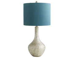Teal Honeycomb Lamp eclectic table lamps