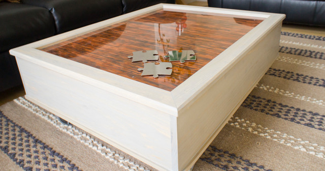 Custom Copper Coffee Table contemporary-coffee-tables
