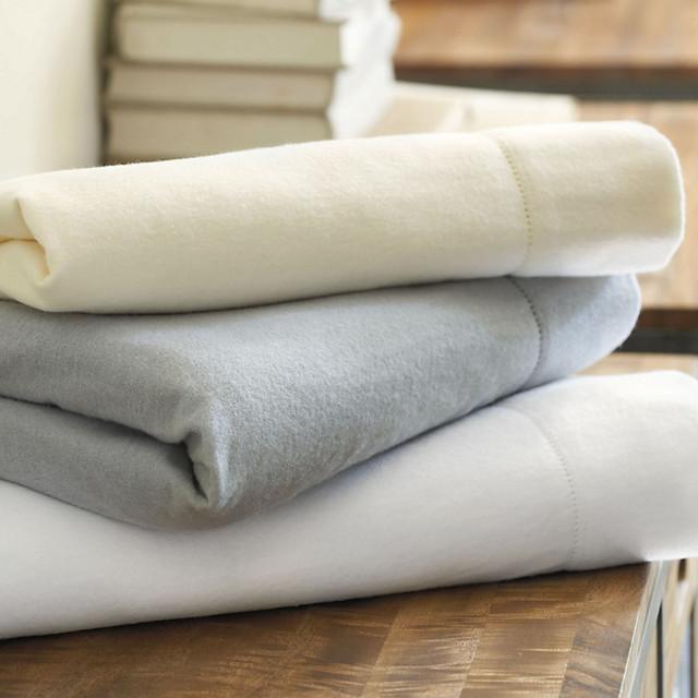 Natalie Solid Flannel Sheet Set traditional-sheets
