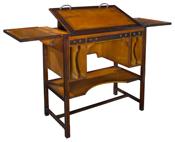 Tall Bureau Desk - Traditional - Desks And Hutches - by Inviting Home ...